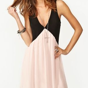 Nasty Gal Solemio Trapeze Dress, Pink & Black